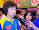 张怡宁接受媒体采访