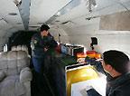 救护直升机的内部