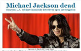 迈克尔杰克逊去世 芝加哥论坛报